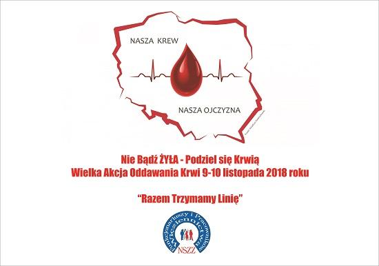 """""""Poleje się Krew"""" – akcja z okazji odzyskania Niepodległości – Zarząd Okręgowy NSZZ FiPW w Poznaniu"""